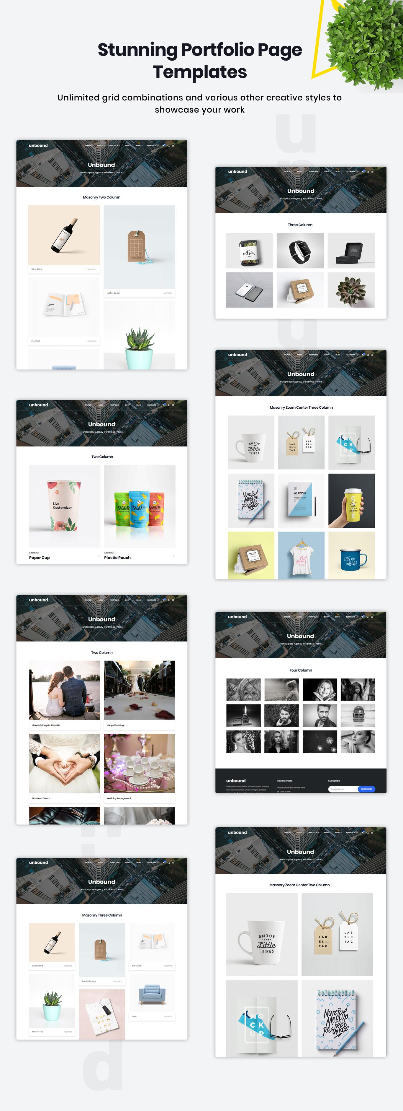 Stunning portfolio templates